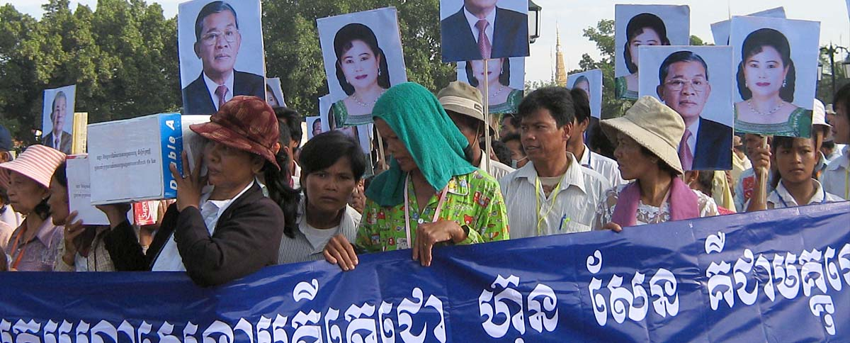 Cambodia's Community Peace-Building Network (CPN) constructively addresses human rights issues by linking communities and dialoguing with government.