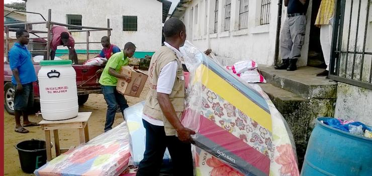 PFL distributed mattresses and footwear for both prison inmates and correction officers.