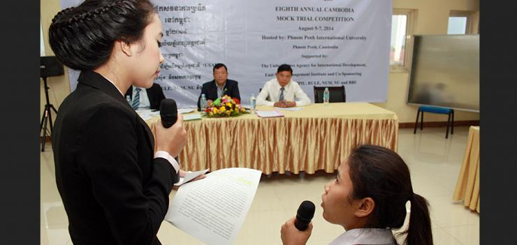Mock Trial competitions were held as part of PRAJ 2's legal education program.