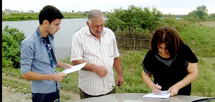 """""""Dalga"""" Ecology and Nature Protection Public Union conducts environmental survey in those communities located on the bank of Araz and Kura rivers"""