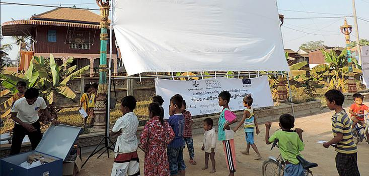 Over 6,000 rural Cambodians attended the 12 roadshows organized by EWMI.