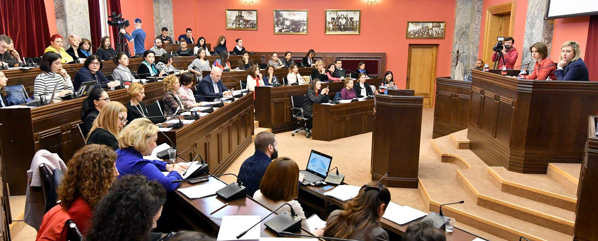 Meeting of Parliament's Gender Equality Council; Photo Credit: Parliament of Georgia