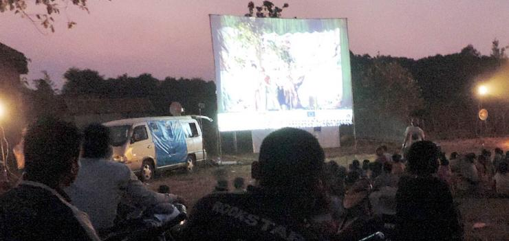 Innovative mobile screening events increase understanding of the law and its impact on Cambodians' livelihoods.