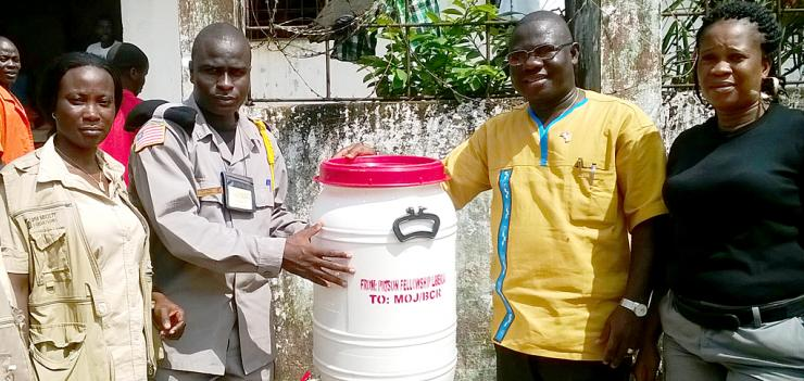 PFL Staff improves sanitation within prisons.