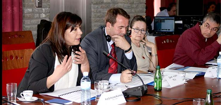 Members of the Working Group on the Constitutional Court during a meeting in Prevalla, Kosovo in November 2008