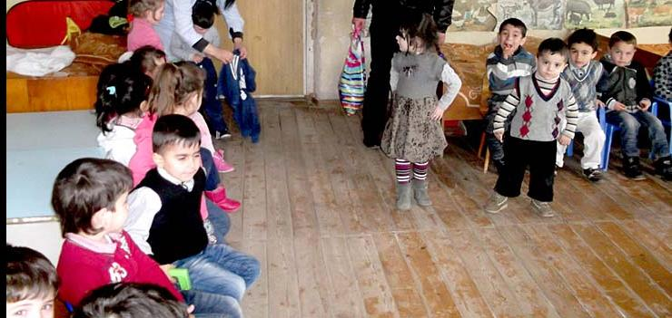 Lack of funding for preschools in Marneuli has created unsafe and uncomfortable classroom conditions.