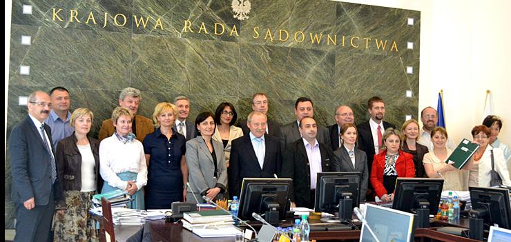 Georgian Judges and JILEP's Judicial Reform Advisor meet with the members of the Polish National Judicial Council