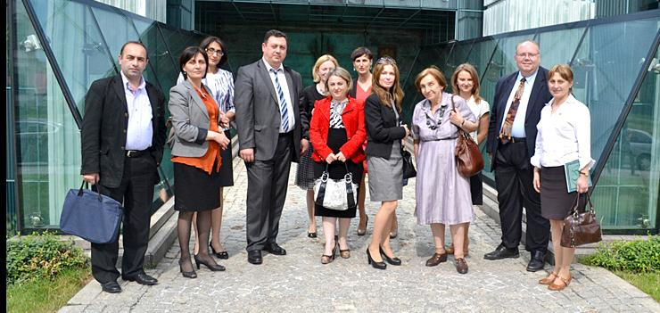 Georgian Judges and JILEP's Judicial Reform Advisor meet the First President of the Supreme Court of Poland