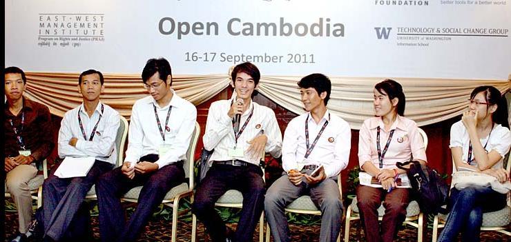 Opening Remarks at the Open Cambodia Conference [photo: Zuzana Sadkova]