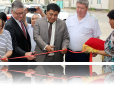 Ribbon cutting ceremony in Balykchi