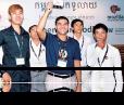 Participants in the first Open Cambodia conference prepare for break-out groups [photo: Zuzana Sadkova]