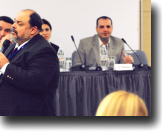 Columbia University Professor Francisco Rivera-Batiz presents during the conference's education panel