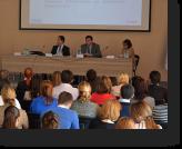 Giorgi Tshekhani, HSOJ Head of Administration, explains software content.