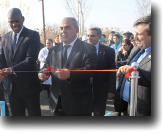 Dereck Hogan, Chargé d'Affaires of the U.S. Embassy in Baku during the ribboncutting ceremony in Garalar village, Sabirabad